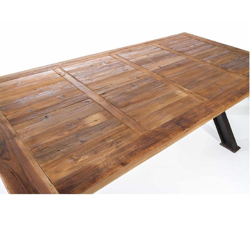 table de repas industrielle 2m50 vintage
