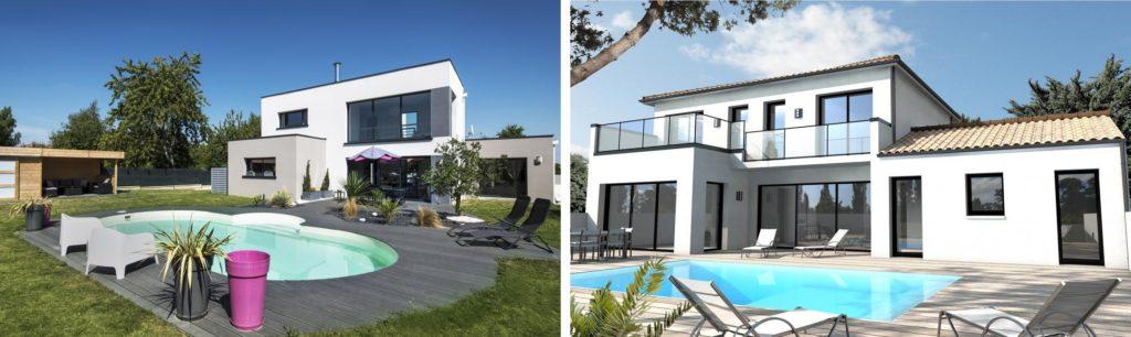 maison avec toit terrasse un