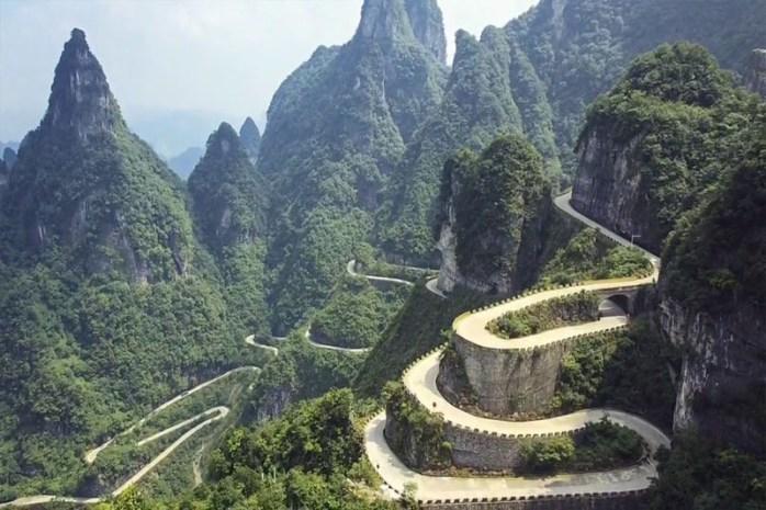 Tianmen Mountain Road, China