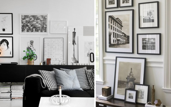 Decorar con cuadros en blanco y negro - Depto51 Blog