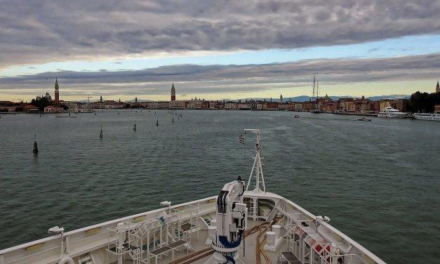 Llegando a Venecia