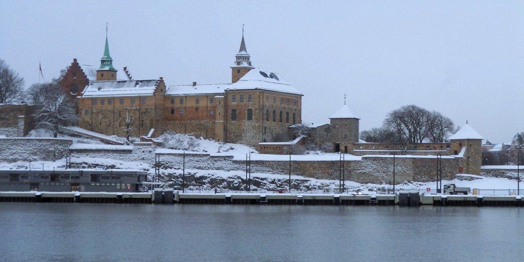 Akershus bajo la nieve