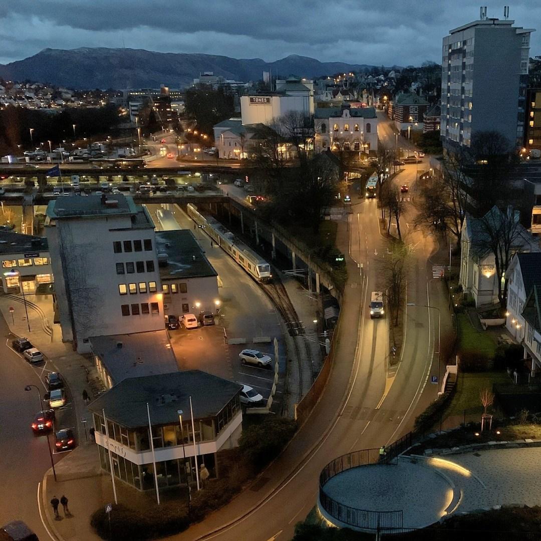 Estación de Stavanger desde el Radisson Blu Atlantic