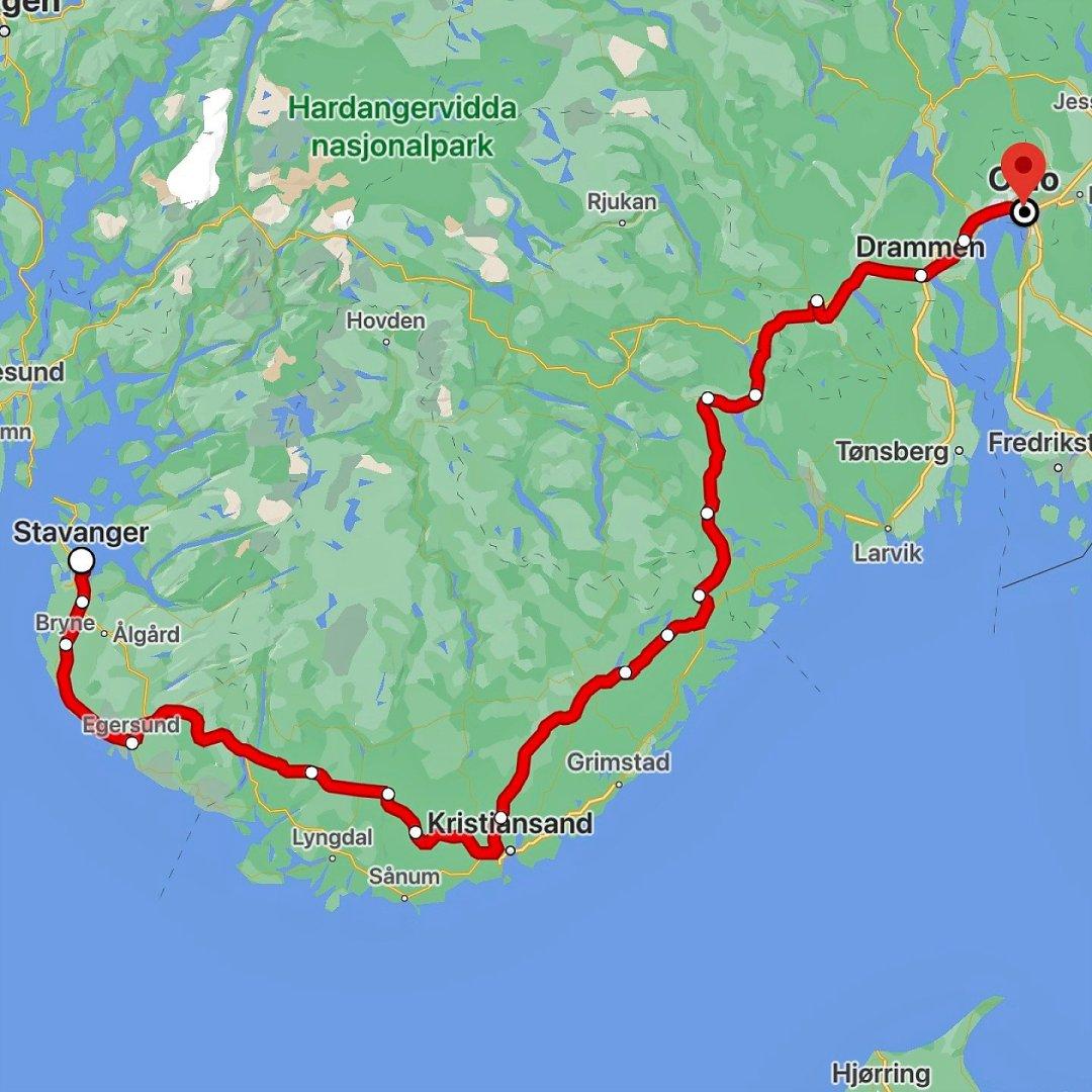 Ferrocarril Oslo - Stavanger