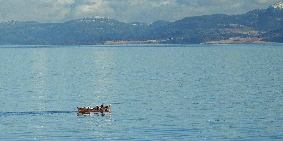 Remando en el Trondheimsfjorden