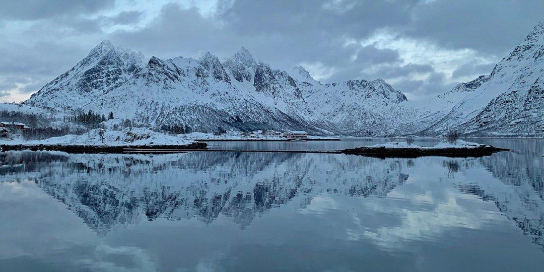 Atardecer en el Ausnesfjorden