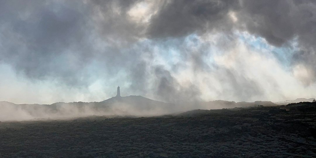 Faro de Reykjanes desde Gunnuhver