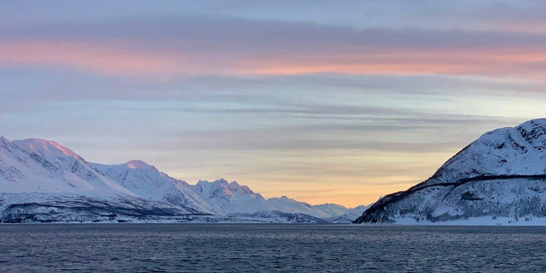 Atardecer en el Ullsfjorden