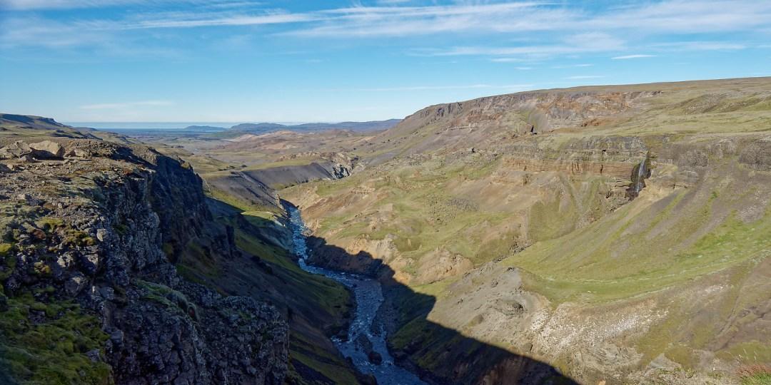 Río Fossá aguas abajo de Háifoss