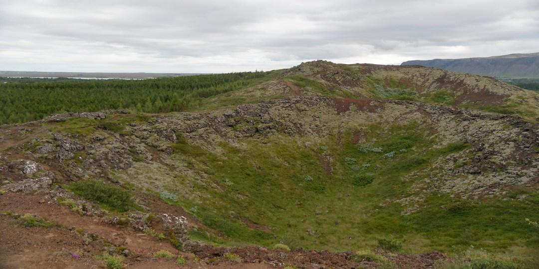 Seyðishólar y Kerhóll, al sur de Kerið