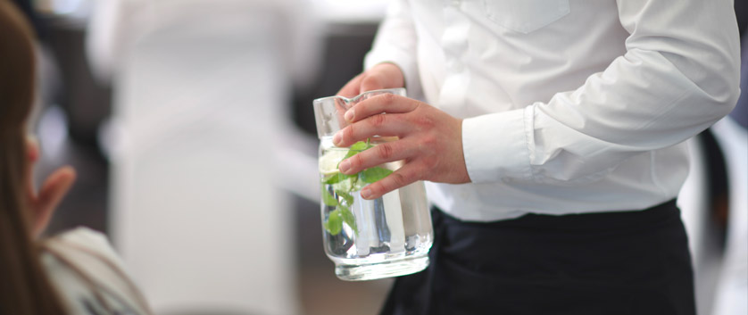 acqua pulita per ristoranti e bar