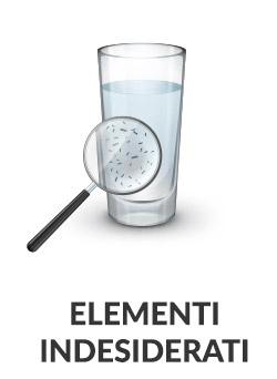 elementi indesiderati nell'acqua di casa