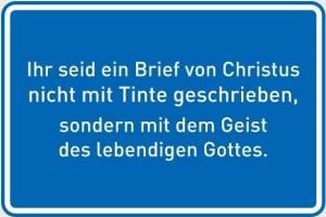 Ihr seid ein Brief vopn Christus-blau