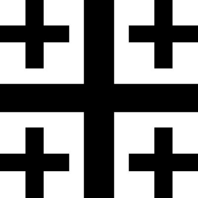 Jerusalemkreuz vektor