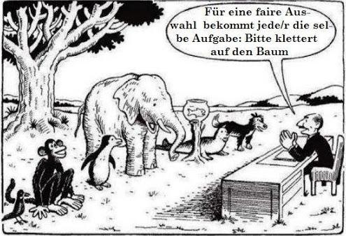 Auch das ist nicht gerade faires Lernen.