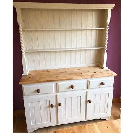 Restoration of wooden sideboard sanded and painted