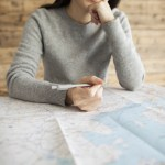 Women are considered the travel destination while viewing the map