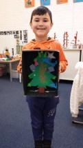 Denis plak kerstboom