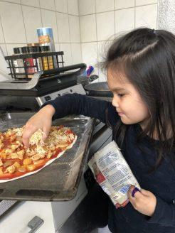 Heerlijke pizza van Helena