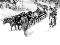 Hauling Guns from Ft. Ticonderoga (US Archives 111-SC-100815)