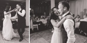 Bride and Groom's first dance at St George's Motor Boat Club