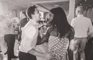 Wedding guests dance during reception at St George Motor Boat Club