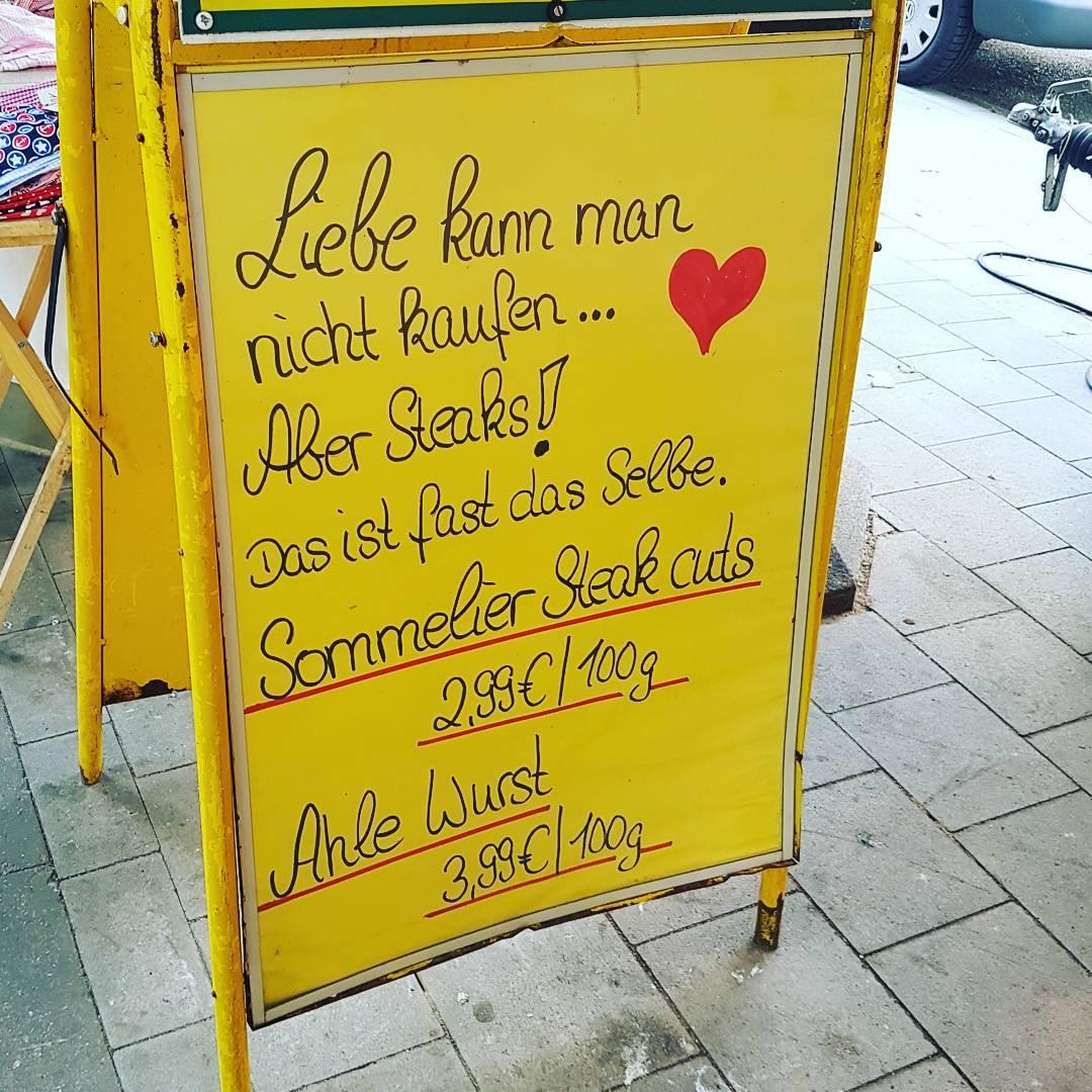 Liebe kann man nicht kaufen, aber Steaks # käuflicheliebe