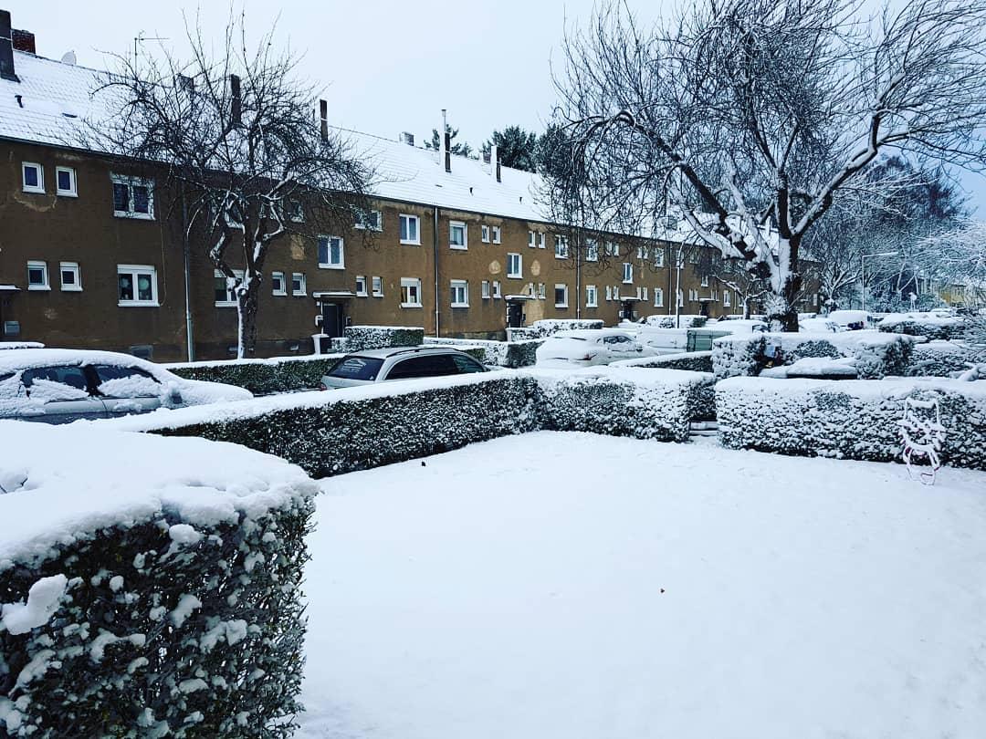 Für Kölner Verhältnisse war es diesmal ordentlich viel Schnee