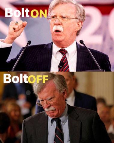 Krigshisseren John Bolton er sparket som Trumps sikkerhetsrådgiver.