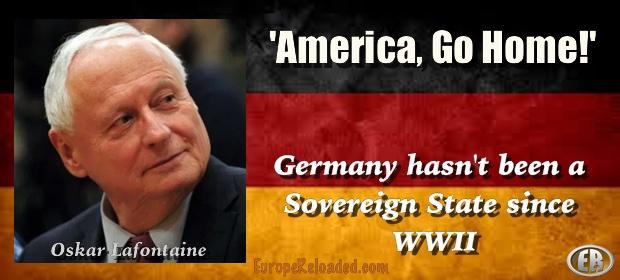 Lafontaine, tidligere SPD-leder, sier at USA må ut av Tyskland.