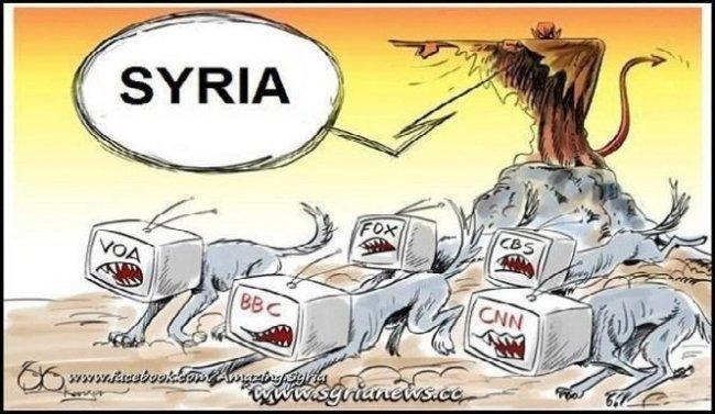 En forutsetning for krigen mot Syria var å få mediene på geledd.
