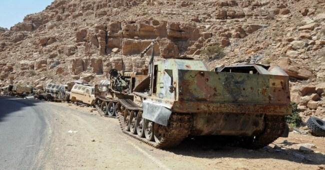 Krigslykker er nå helt snudd i Jemen. De saudiske leie-troppene taper nå både utstyr og krigen.