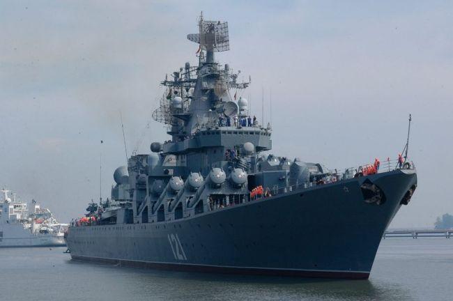Russiske  krigsskip beskytter nå Iranske forsendelser til Syria.