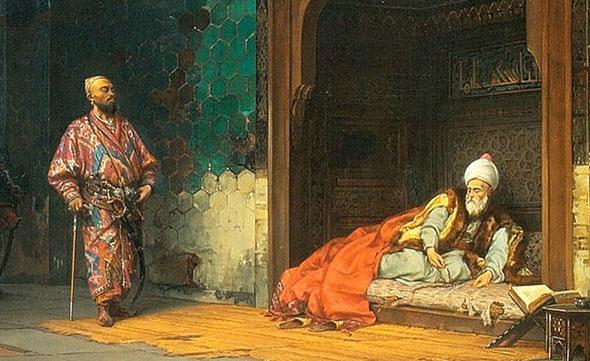 I. Bayezid'i esir alan Timur