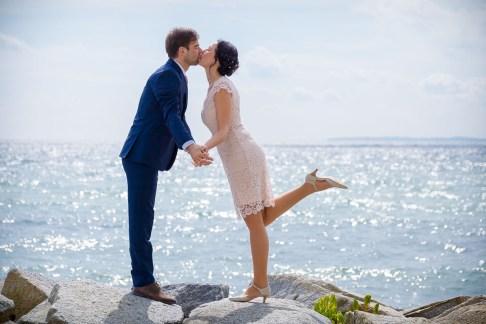 Brautpaar am Sassnitzer Hafen