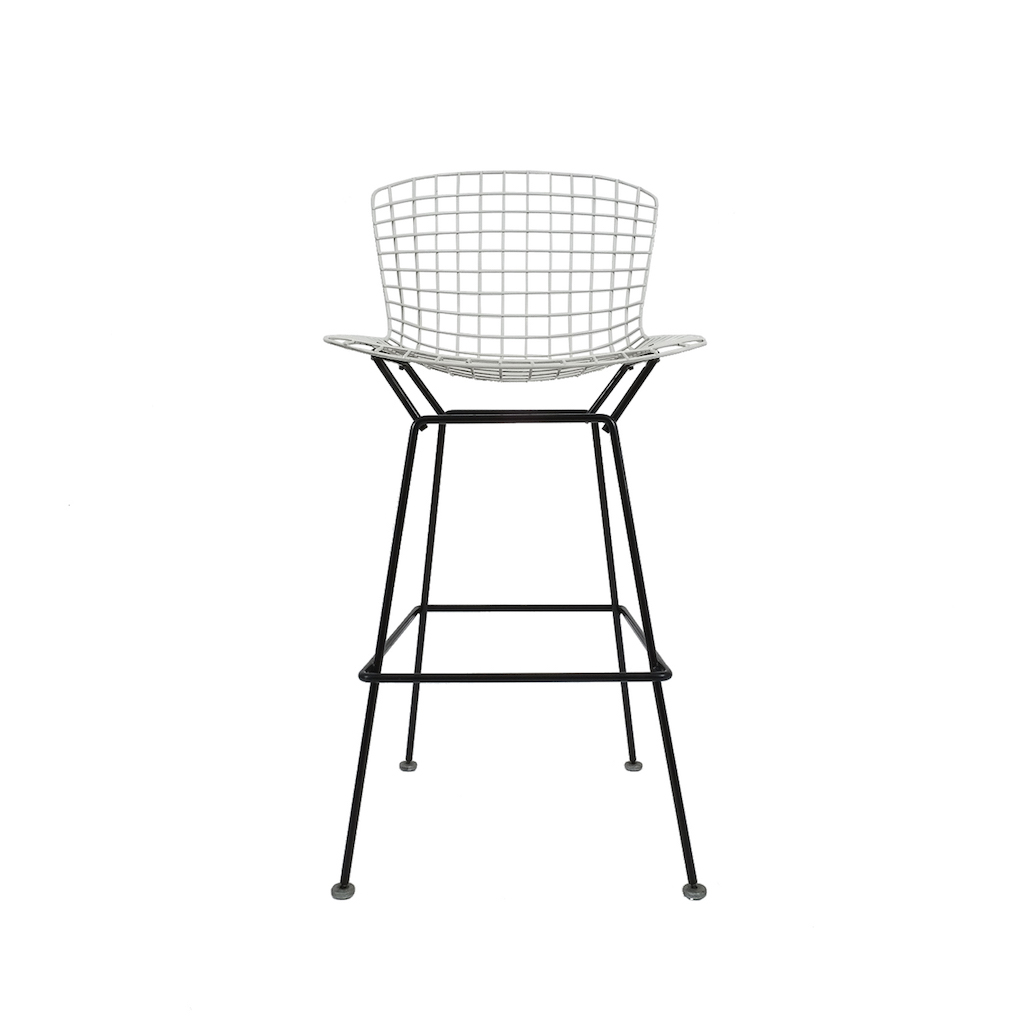 Harry Bertoia 4 Vintage Black And White Bar Stools