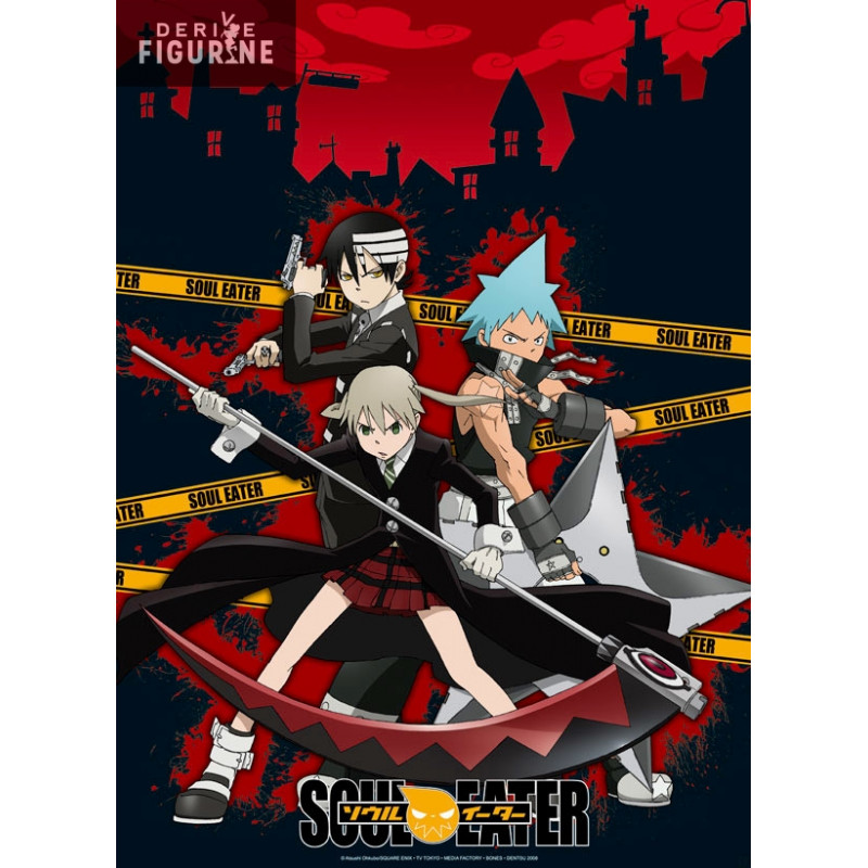 poster soul eater maka black star and death the kid abystyle
