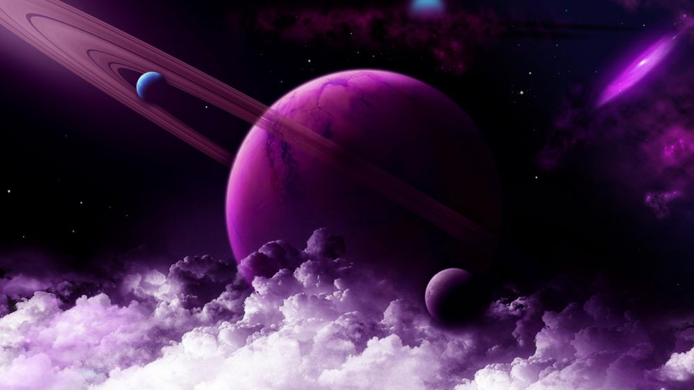 amazing solar system backgrounds in purple - photo #25
