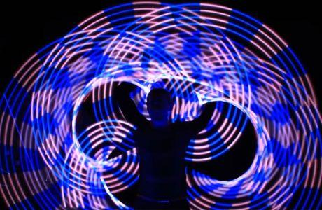LED-Show zum Energizer Night Run