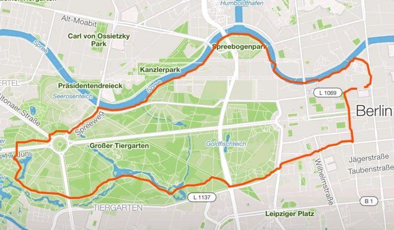 Laufen in Berlin - Großer Tiergarten Runde - 2018