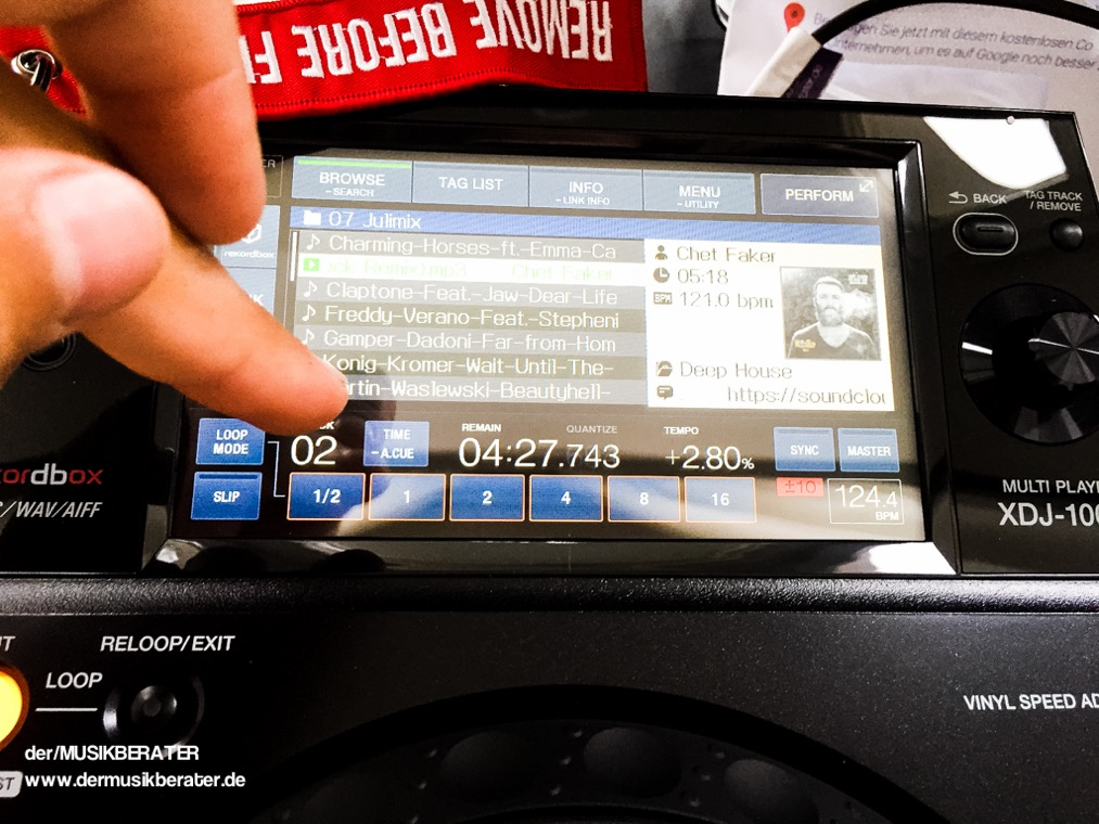 13 Pioneer DJ XDJ 1000 Traktor HID Serato Case Player Nexus Z2 Traktor 2.10 Blog Tech www.dermusikberater.de 08-2015