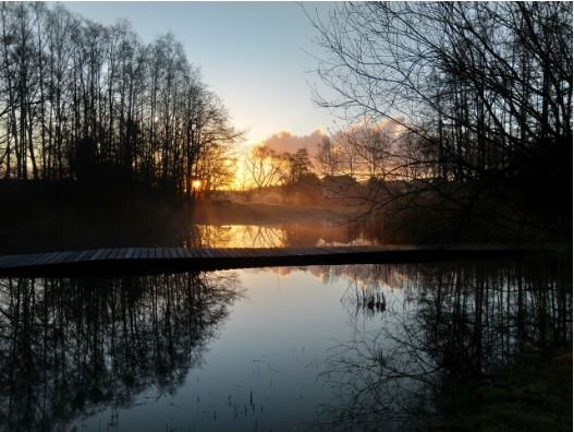 zonsopgang boven de grote poel