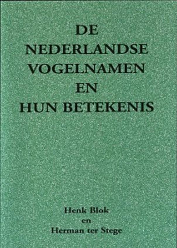 boekkaft Nederlandse vogelnamen