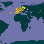 wereldwijde verspreiding Slijktor