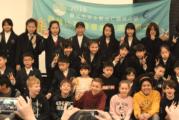 Taiwanese scholieren op bezoek bij basisschool Merlin in Eemnes