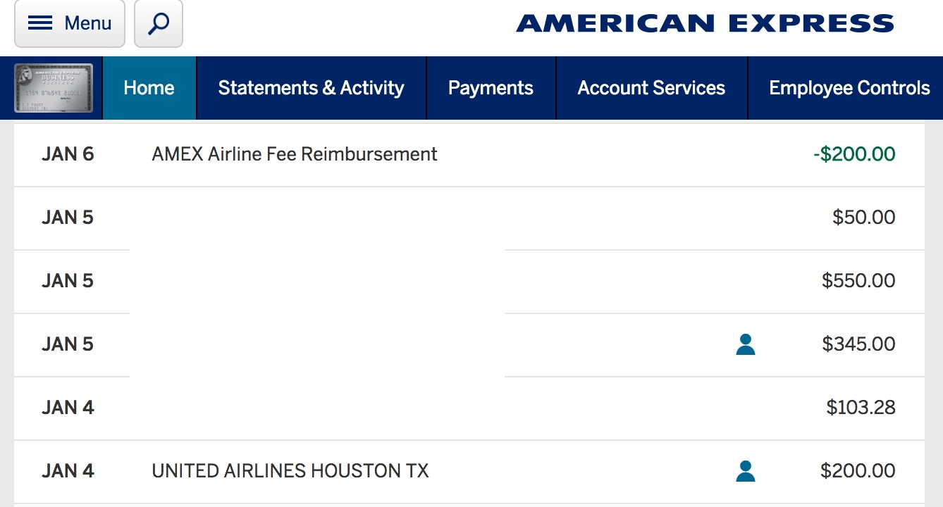 Amex Fee Reimbursement Still On For Ua And Aa Derp Report