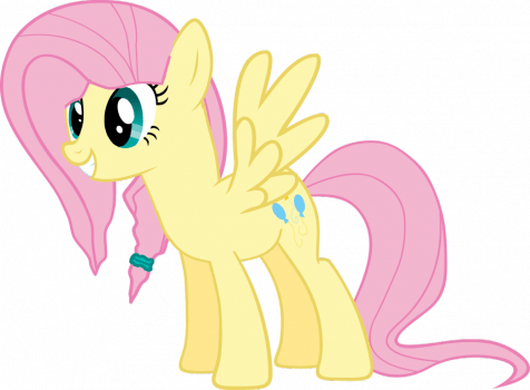 Cutie Mark Swaps - Fluttershy with Pinkie Pie's by JonathanMDful