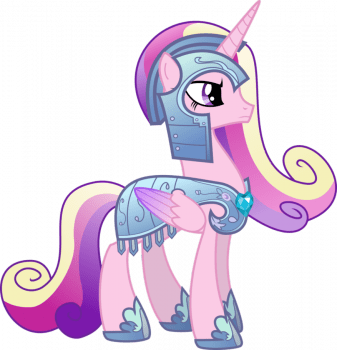 Princess Cadance in Royal Armor by memershnick