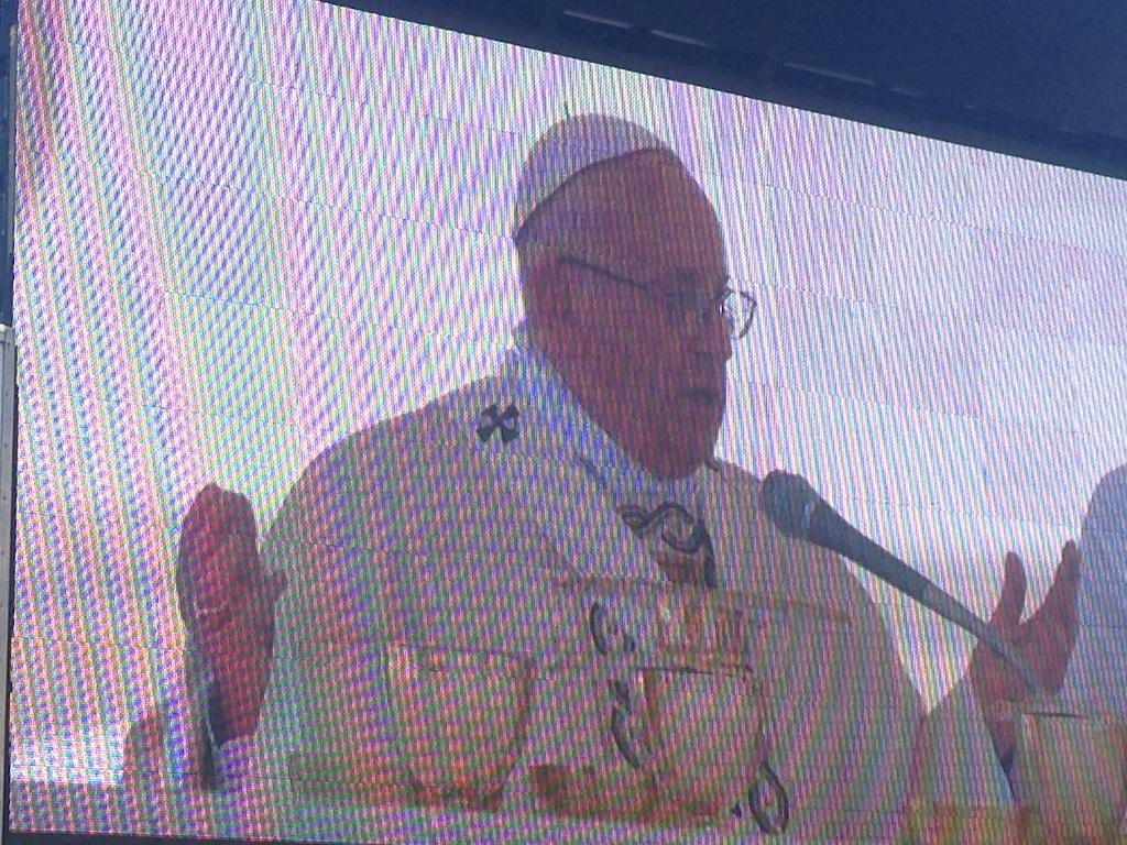 Messe à Rome, place Sait-Pierre, par le Pape François