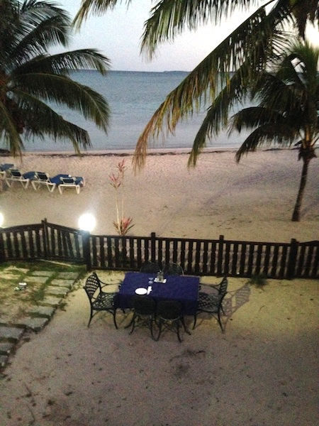 Vue de ma chambre à Playa Larga